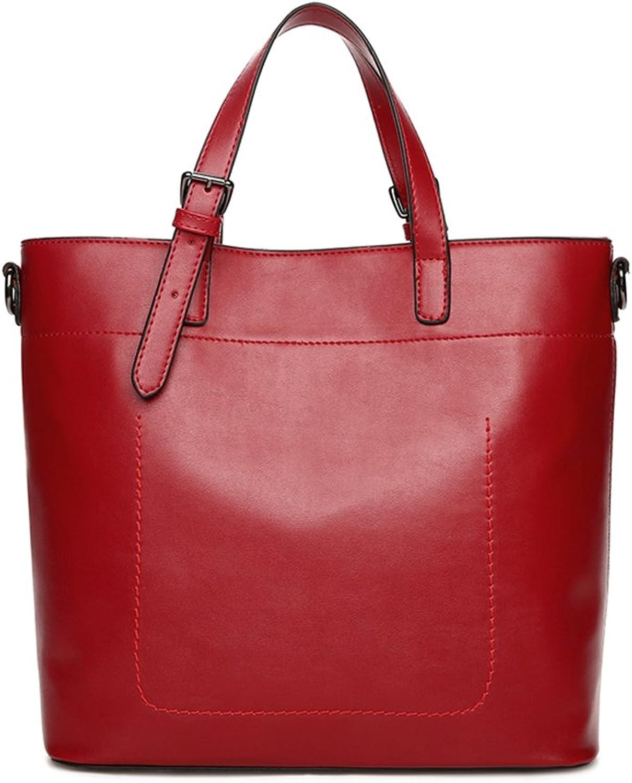 Amarte Women's Leather Large Capacity Tote Bag Vintage Top Handle Satchel Shoulder Bag