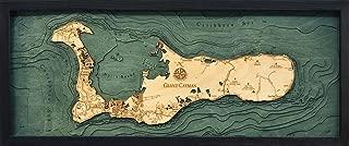 Grand Cayman 3-D Nautical Wood Chart, 13.5