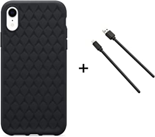 OtterBox Bundle - OtterBox Ultra Slim Firm Flexible Case for iPhone XR with Lightning Cable - Retail Packaging - Black