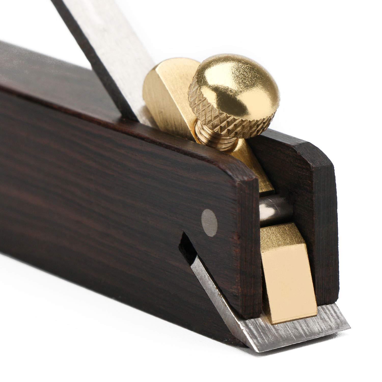 EnPoint - Planeador de madera de ébano con hoja de 1,27 cm, mini ...