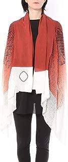 ミハイル ギニス アオヤマ MICHAIL GKINIS AOYAMA 着る ART ストール [登録意匠] 日本製 ハイテク ニット MADE IN TOKYO ギリシャ 大判 コットン Cotton Hand Print Color Gradation/RED ハンドプリント グラデーション レッド
