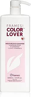 Framesi Color Lover Moisture Rich Shampoo - 33.8 Ounce, Moisturizing Shampoo, Sulfate Free and Color Safe Hydrating Shampoo, Gluten Free