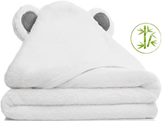 Baby Towel | Baby Bath Towel | Organic Bamboo | Soft | Absorbent | Premium Shower Gift for Boys and Girls