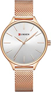 CURREN Original Women's Girls Sports Waterproof Stainless Steel Quartz Wrist Watch 9024