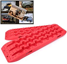 GZYF Pair Auto Recovery Traction Tracks Emergency Tires Ladder Sand Mud Snow Track Boards Mat 4WD Off Road