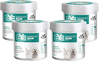 #N/A 4X Dog Grooming Tear Stain Wipes Presoaked Wiping Pads Pet Eye Cleaning Care 7cm
