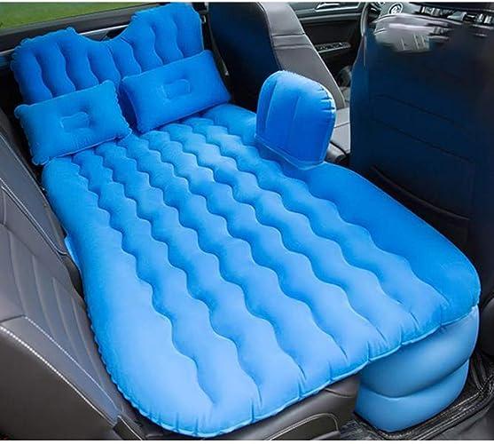 Sksg Matelas Gonflable Voiture   Matelas Gonflable De Camping Universel Voiture   Matelas Gonflable avec Oreiller,bleu