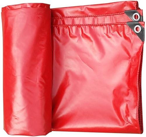 MDBLYJAuvent Pare Soleil et Tissu Froid Bache imperméable à l'eau Rouge, auvent extérieur épais, Isolation en Toile imperméable à l'eau Super imperméable à l'eau de Parasol de Toile de Camion