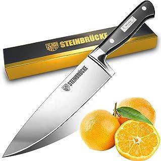 Couteau de chef 20 CM - Couteau de cuisine tranchant Couteau de cuisine polyvalent forgé en acier inoxydable au carbone al...