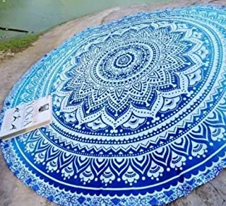 Popular Handicrafts Popular Round Roundie Indian Mandala Round Roundie Beach Throw Tapestry Hippy Boho Gypsy Cotton Table Cover Round Tapestry Wall Hanging 70