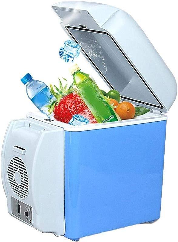 Suines 7 5L Mini Car Refrigerator Low Noise Cooling Heating Portable Dual Use Fridge Beverage Refrigerators