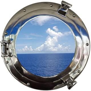Hampton Nautical Chrome Decorative Ship Porthole Window, 15