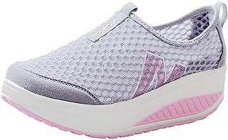 Lanskirt Sportschoenen voor dames met platform, modieuze sandalen van ademend mesh