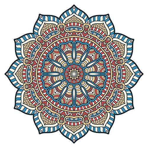 Wandtattoo Mandala Blüte bunt mit Ornamenten Wandsticker Wanddeko Wohnzimmer