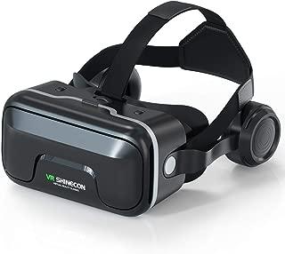3D VRゴーグル VRイヤホン 2019最新 メガネ 3D ゲーム 映画 動画 Bluetooth コントローラ 4-6インチ スマホ 対応 iPhone Androidスマホ対応 黒 日本語取扱説明書付き