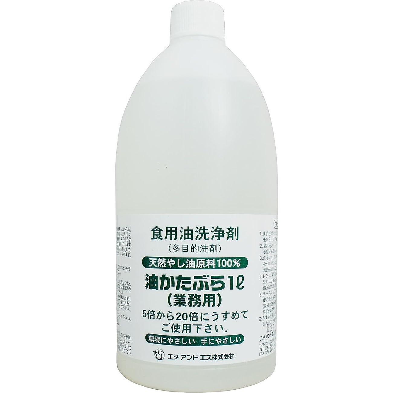 傑出した私達絶望多目的 洗浄剤 うすめて手にやさしい 再利用 リサイクル 食用油洗浄剤 油かたぶら 天然やし油原料100% 業務用 1L