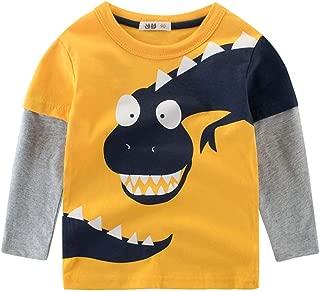 URMAGIC Baby Boys Kids Long Sleeve Pullover Sweatshirts Cartoon Dinosaur T-Shirt Tops Aged for 3-9 Year Old