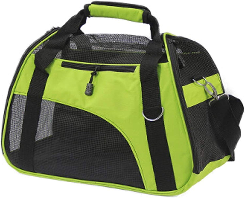 Breathable Pet Shoulder Bag Handbag Green (Suitable For 5Kg Cats And Dogs)