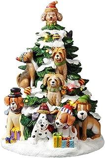 The San Francisco Music Box Company Musical Holiday Dogs Tree Figurine