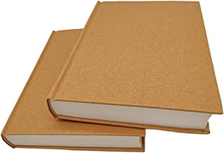 5.5x8.25 Sketch Book, Pack of 2, 240 Sheets (100gsm), Hardcover Bound Sketch Notebook, 120 Sheets Each, Acid-Free Blank Drawing Paper, Ideal for Kids and Adults, Kraft Cover