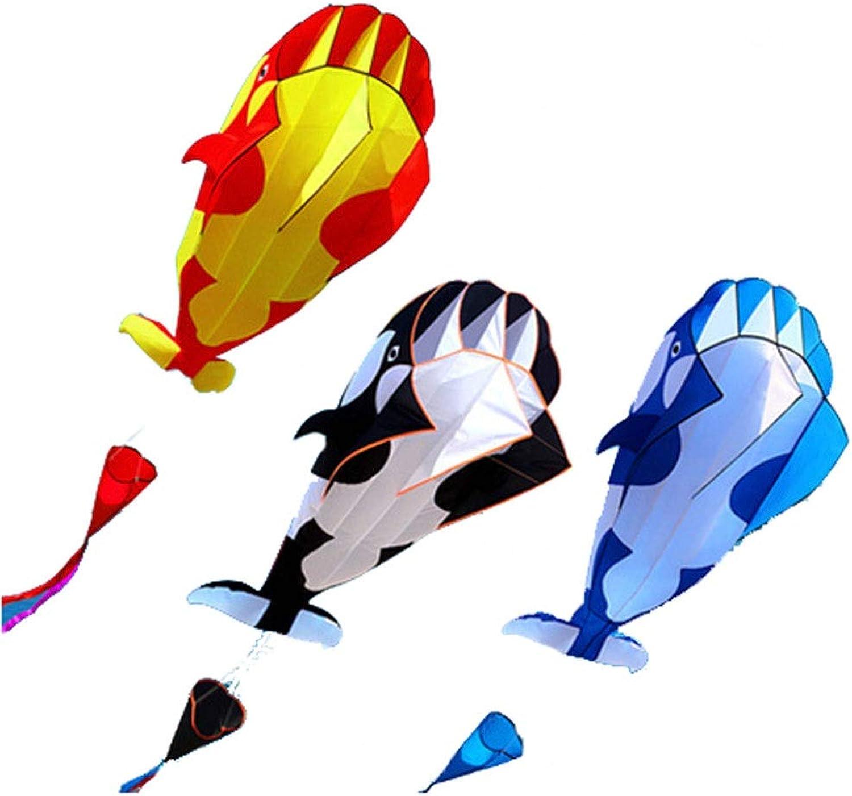 LQW HOME-kite Nuovo Aquilone da 1,2 M Softless Ombrello da Erba Balena da Aquilone Aquilone Sport da Esterno Giocattoli Bambini Bambini Diverdeenti Aquiloni (Coloree   rosso, Dimensione   100meter Line)