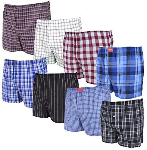 Cocain underwear 8 Stück lockere, gewebte Boxershorts; größtenteils Karierte Boxer; Loose fit American Style Größe 9/3XL