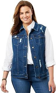 a0c6526e603 Woman Within Plus Size Stretch Denim Vest