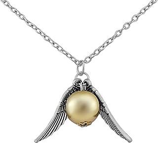 Collar Hanessa con colgante de snitch dorada de quidditch, seguidores de Harry Potter, regalo para un amigo o amiga