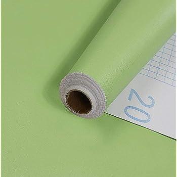 BENQUE 壁紙シール 無地 3D はがせる 防水 ウォールステッカー リメイク 45cm×10M グリーン