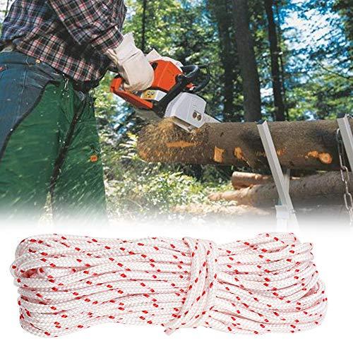 01 Cable de Arranque de cortacésped de Nailon de 5,0 mm, Cuerda de Arranque de 10 m de Longitud, Cable de Arranque, para Piezas de Motor STIHL, Herramienta de Arranque para Echo