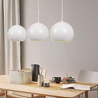 ZMH – Lámpara colgante de mesa o péndulo de aluminio 3 x