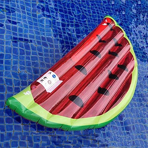Gcxzb Schwimmreifen Luftbetten aufblasbare schwimmende Reihe schwimmende Bett Wassermelone schwimmende Ruderstuhl Schwarmausrüstung 165 * 80 cm Wassermelone