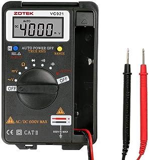 Digital Multimeter, V RESOURCING Auto Ranging Pocket Multi Tester; Ohmmeter/Voltmeter Tester Misst AC/DC Spannung, Strom, Widerstand, Kapazität, Frequenz, für Lab Home School