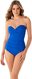 Miraclesuit Women's Swimwear Rock Solid Madrid Tummy Control Strapless One Piece Swimsuit