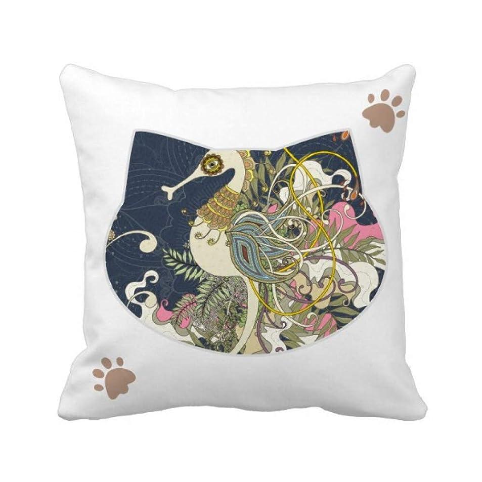 修道院雄弁家ミトン花は日本の海馬の浮世絵 枕カバーを放り投げる猫広場 50cm x 50cm