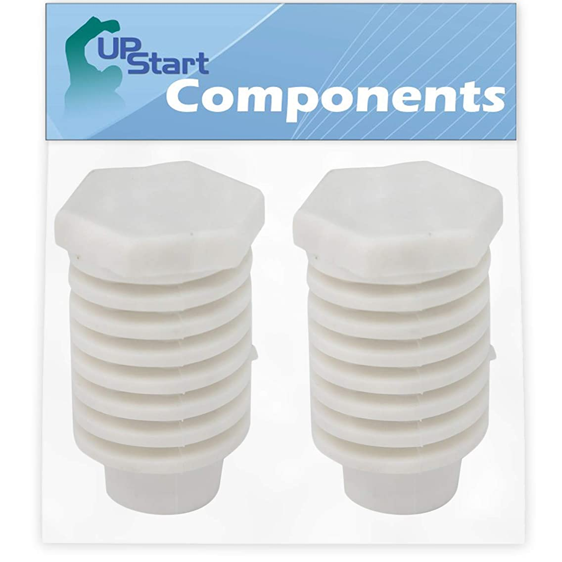 2-Pack 49621 Leveling Foot Replacement for Whirlpool WGD88HEAW1 Dryer - Compatible with 49621 Dryer Leveling Leg Foot - UpStart Components Brand