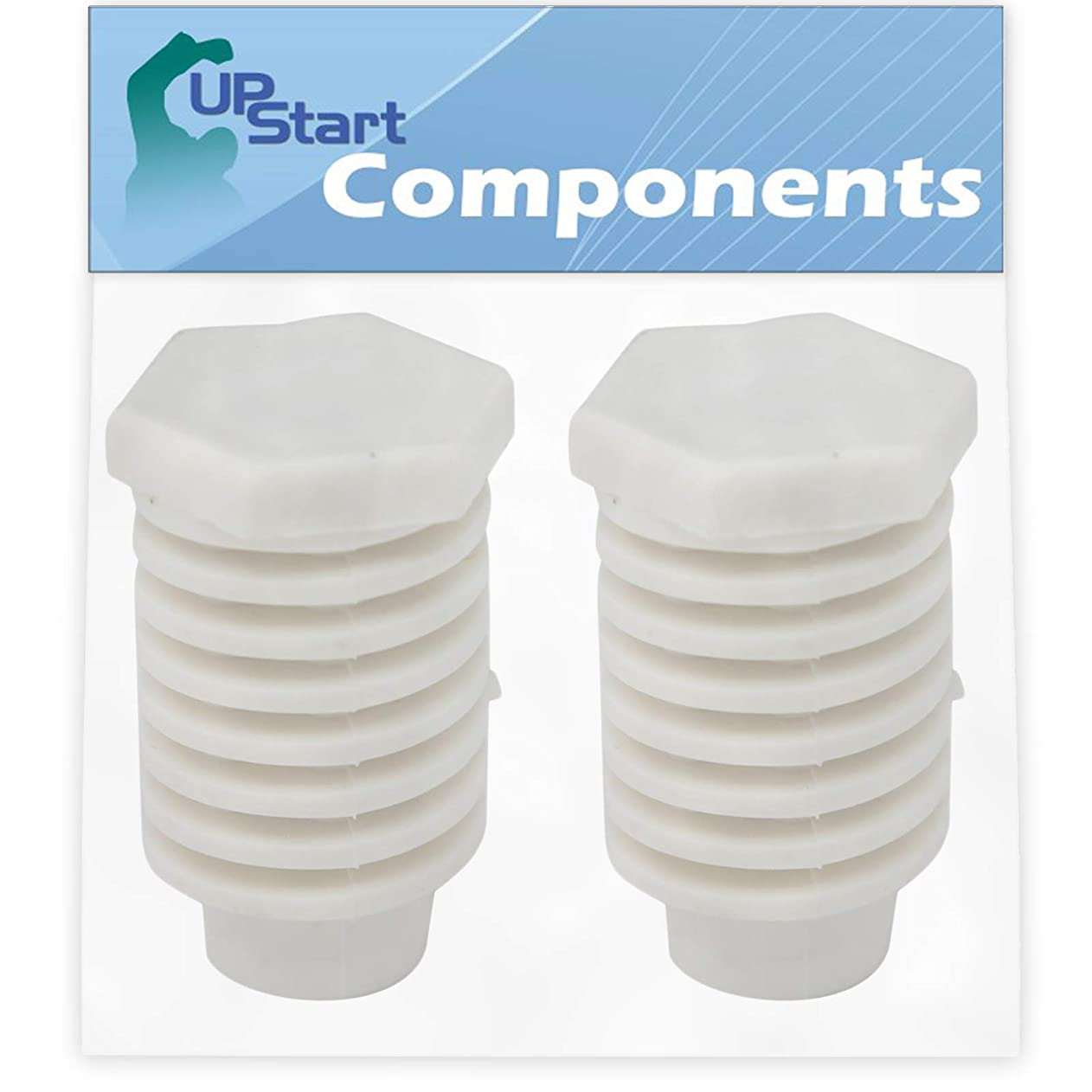 2-Pack 49621 Leveling Foot Replacement for Whirlpool LET6634DZ1 Dryer - Compatible with 49621 Dryer Leveling Leg Foot - UpStart Components Brand ltspqrrkaoz06581
