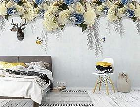 Behang 3D Behang Muurschilderingen Gele Bloem Vlinder Muurschildering 3D Slaapkamer Behang voor Woonkamer Muur Papier Decor