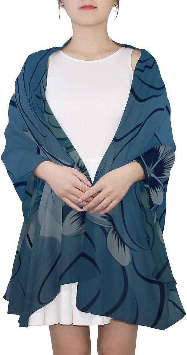 Wrap Shawl Blue Rose Seasonal Elegant Flowers Fashion Scarfs Women Mens Scarf Lightweight Print Scarves Head Wrap Scarf Scarfs For Kids
