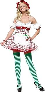 Sexy 4Pc Cherry Girl Peasant Top Halloween Costume