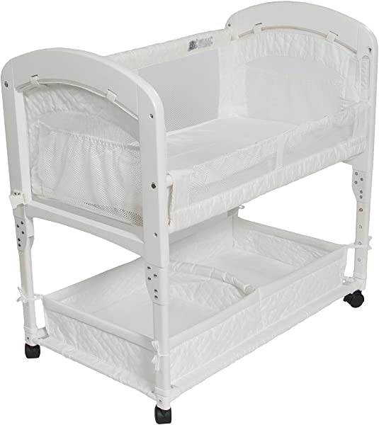 Arm S Reach Cambria Co Sleeper Bassinet Quilted Poly Without Skirt White