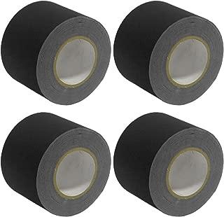 Seismic Audio - SeismicTape-Black604-4Pack - 4 Pack of 4 Inch Black Gaffer's Tape - 60 yards per Roll