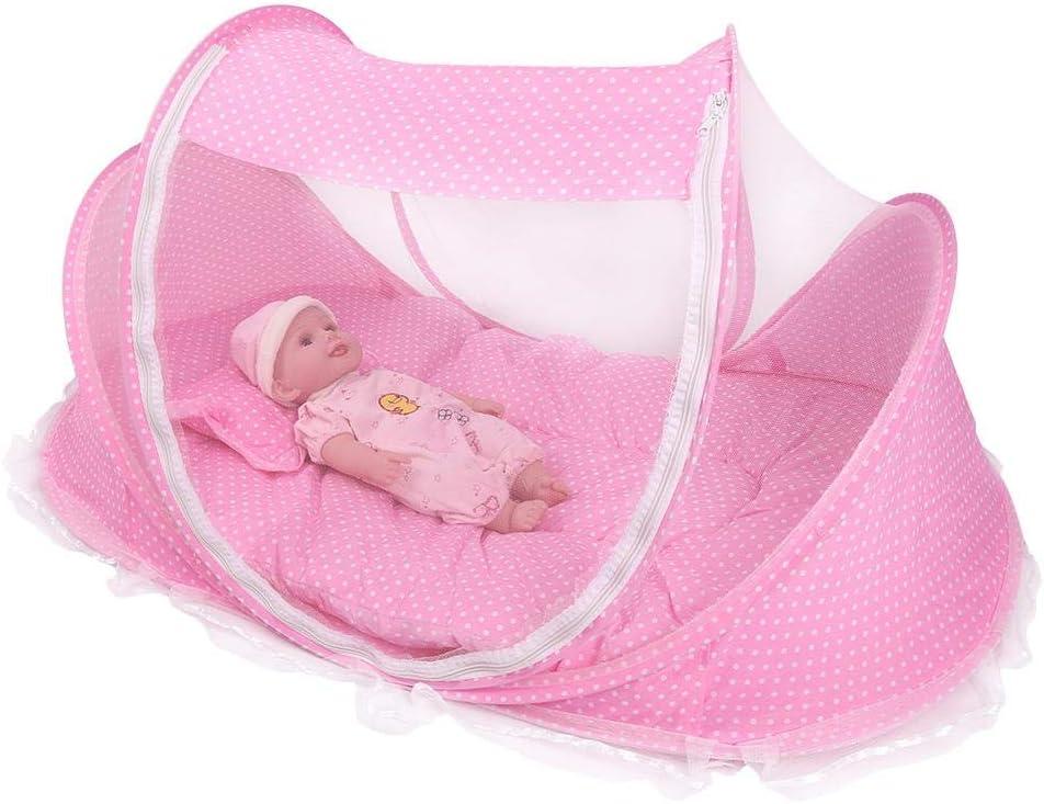Huairdum Tente de bébé, Tente de Berceau de Berceau de moustiquaire Pliable portative avec Anti-Insectes pour Matelas(# 2) # 2
