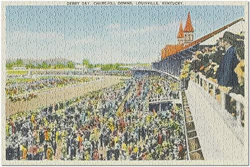 Louisville, Kentucky - Churchill Downs View on Derby Day Rompecabezas de 1000 piezas para adultos