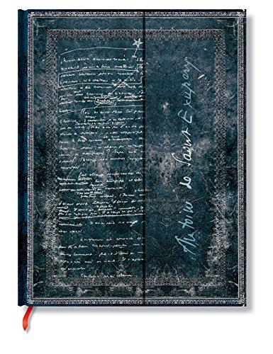 Faszinierende Handschriften Saint-Exupéry - Faux Leder - Notizbuch Groß Unliniert - Paperblanks