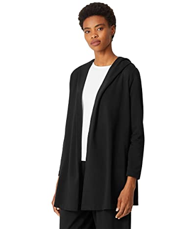 Eileen Fisher Hooded Jacket in Organic Cotton Stretch Jersey
