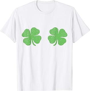 Irish Shamrock Boobs Saint StPatricks Paddys Day T Shirt