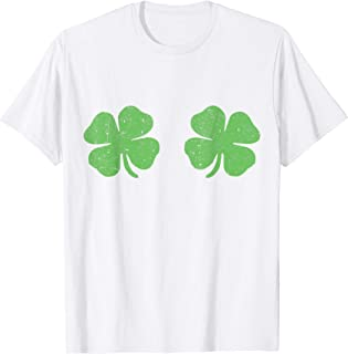 Irish Shamrock Boobs Saint St.Patrick's Paddys Day T-Shirt