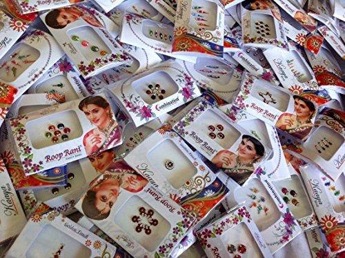 12 Pack Indian Art Bollywood Bindi Body Stickers/tattoo Self Adhesive Reusable