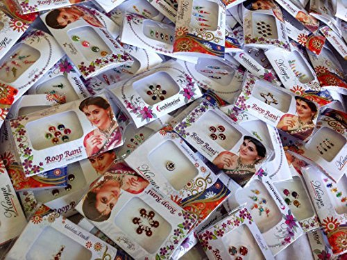 12 Pack Indian Art Bollywood Bindi Body Stickers/tattoo Self Adhesive Reusable